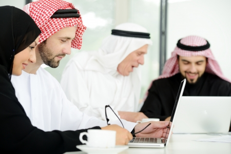 Arabic business people at work ,teamwork