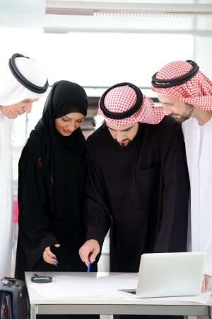 Muslim business at work photo