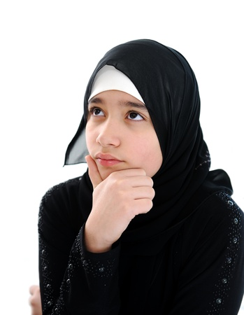 middle eastern ethnicity: Arabic girl portrait