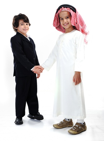 middle eastern clothes: Different races and ethnic culture together