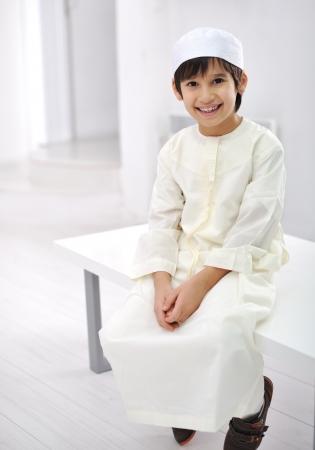 Little Arabic kid indoor