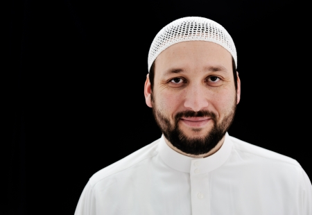 arab man: Arabic Muslim man with beard portrait