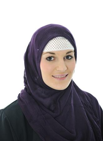 Pretty young Asian Muslim woman  photo