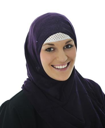 Pretty young Asian Muslim woman Stock Photo - 22127514