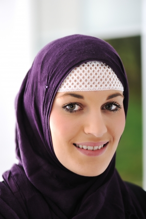 headscarf: Pretty young Asian Muslim woman  Stock Photo