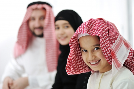 middle eastern woman: Arabic Muslim family