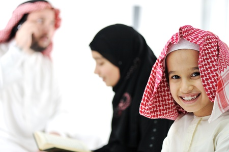 gulf: Middle eastern family at home