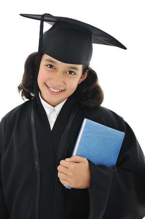 Diploma graduating little student kid photo