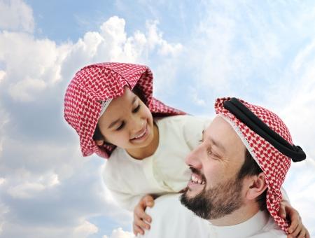 Arabic father and little kid  Reklamní fotografie