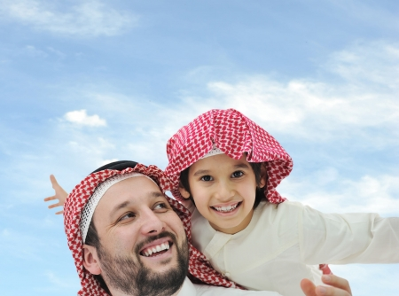 Middle eastern family at home photo