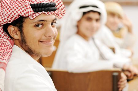 Arabic children in school classroom