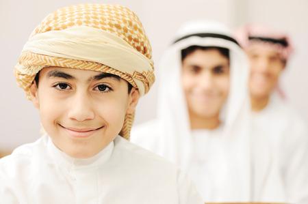 Arabic children in school classroom photo