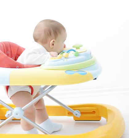 Baby walker 스톡 콘텐츠
