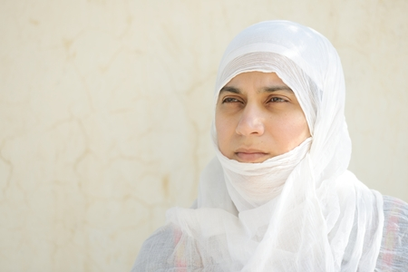 insurrection: Desperate Arabic woman on Middle East