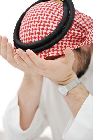 Modern arabic businessman in stress and depression photo