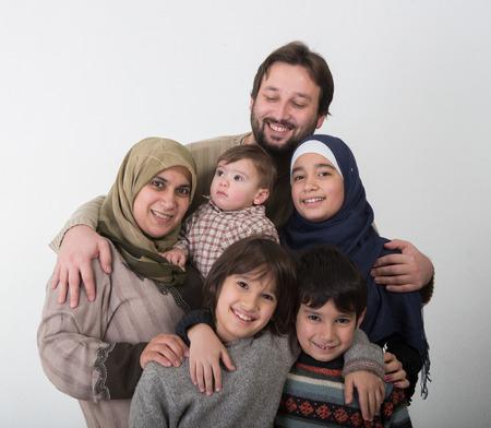 A Happy Muslim family Portrait Reklamní fotografie
