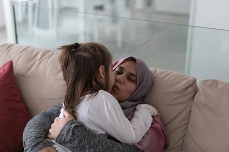Muslim Mother and Son Having Fun Reklamní fotografie