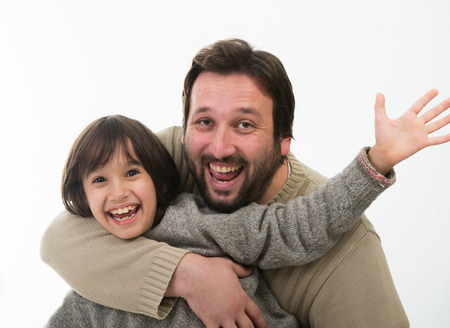 Happy Father with son Portrait
