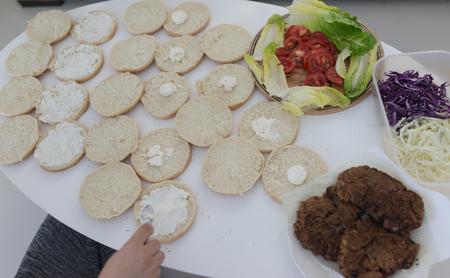 Making lunch at home Reklamní fotografie