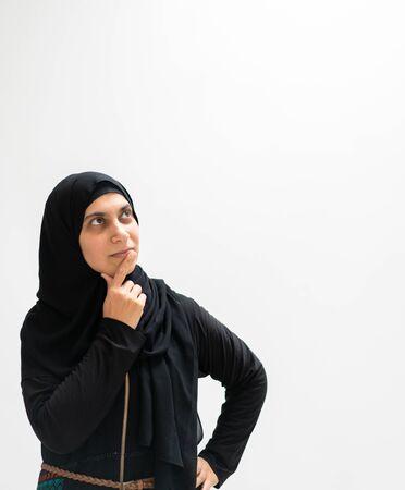 Muslim woman portrait, facial expressions Reklamní fotografie