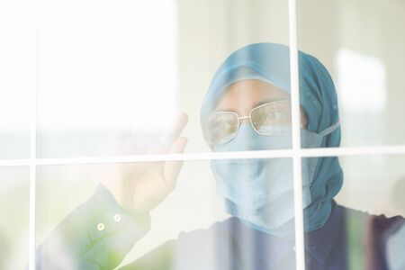 Muslim woman cannot wait to get out of home
