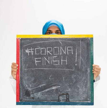 Muslim female doctor hoping for an end for corona virus