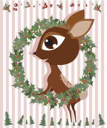Rudolph Reindeer Illustration