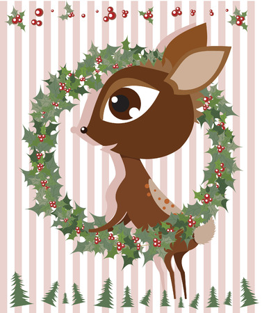 Rudolph Reindeer Illustration