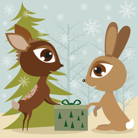 Rabbit and the deer