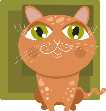 Red cat Illustration
