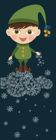 Christmas boy elf Illustration