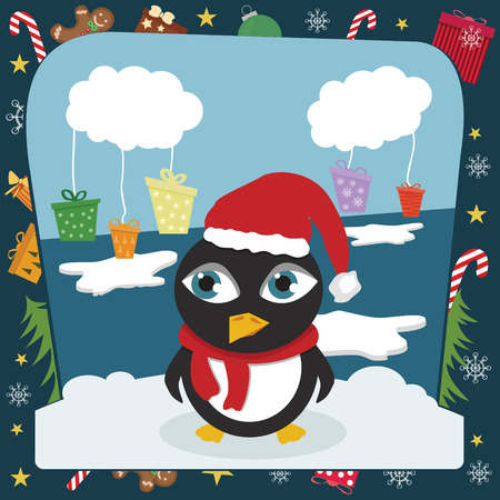 Christmas penguin Stock Vector - 8324215