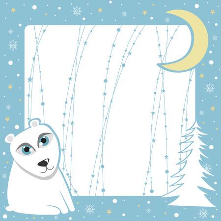 Christmas polar bear frame