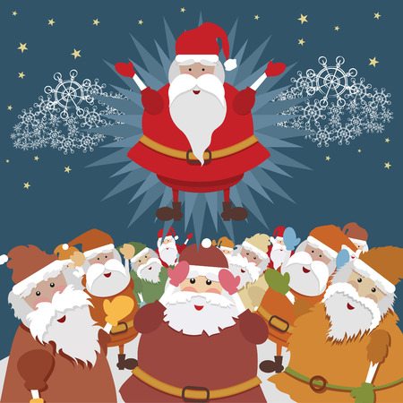 Real Santa Illustration