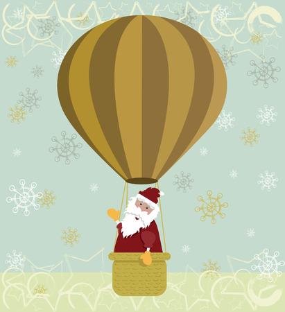 Santa hot air balloon