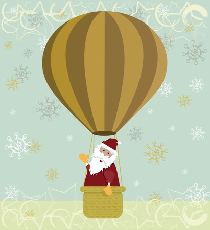 Santa hot air balloon