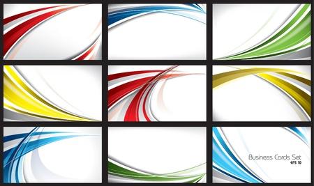 lineas onduladas: Juego de plantillas para tarjetas de visita