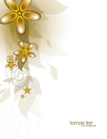 Bloemen, abstracte achtergrond illustratie. Stock Illustratie