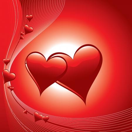Hearts  Illustration in eps10 format