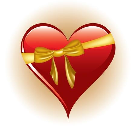 Red Heart  Illustration in eps10 format