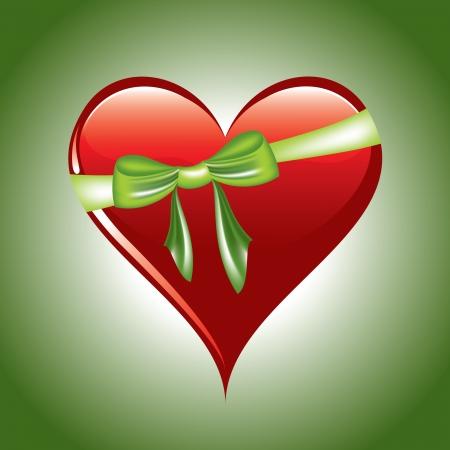 Red Heart  Illustration in eps10 format Stock Vector - 14371985