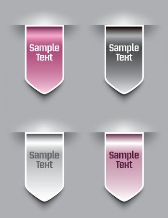 Bookmarks  Vector illustration   Vector