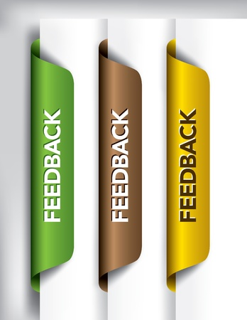 Feedback Labels And Stickers on the edge of the page  Vector Illustration Stock Vector - 14371997