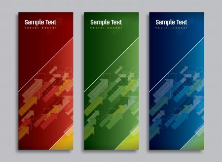 Set van drie Banners Abstract Vector Headers