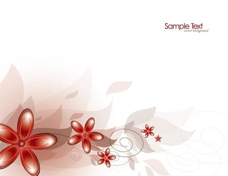 Bloemen abstracte achtergrond vector