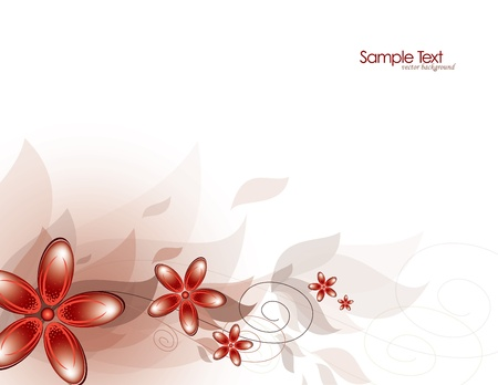 Flowers  Abstract Background  Vector Stock Vector - 14372020