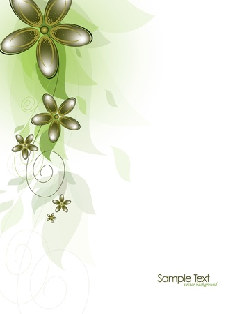 Flowers  Abstract Background  Vector