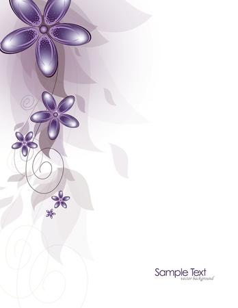 꽃 추상적 인 배경 벡터