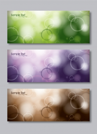 vector banners or headers: Set of Three Banners  Abstract Vector Headers  Eps10 Format