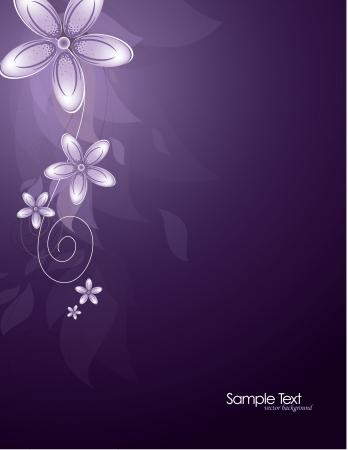 Flowers  Abstract Background  Vector  Vector